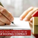 Things That Should Be in Your Roofing Contract